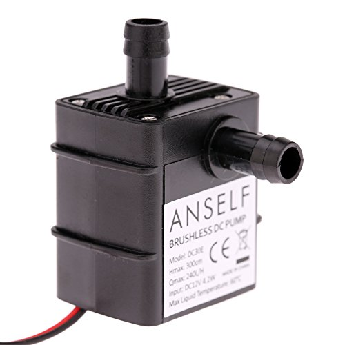 Anself Ultra-quiet Mini DC12V Micro Brushless Water Oil Pump ... on
