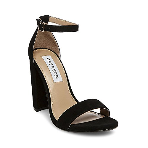 4bff6e7ac771 Steve Madden Women s Carrson Dress Open. Spare block-heel sandal featuring  slim ankle strap with buckle closure. Get your block heel groove on in  CARRSON.